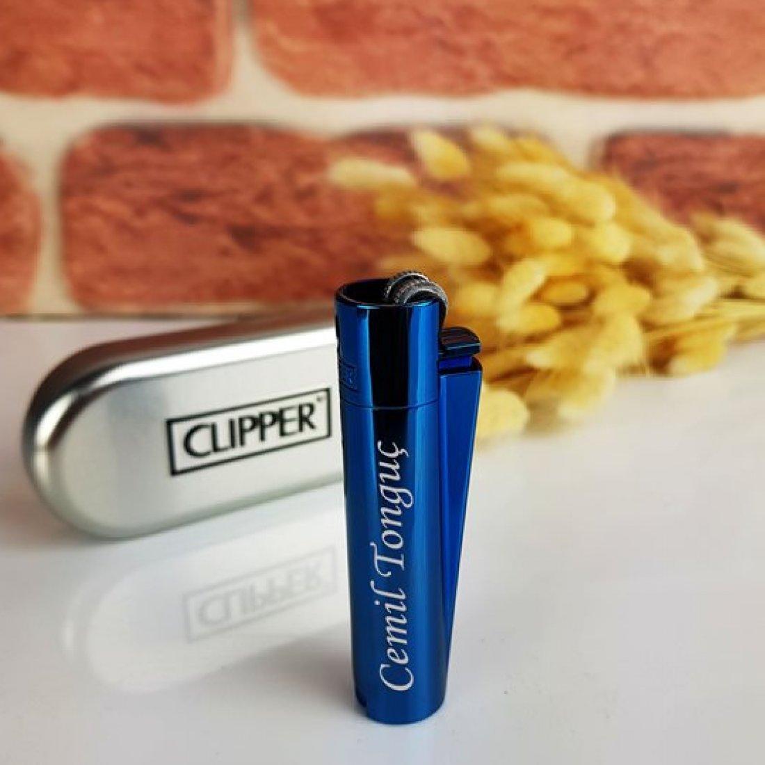 İsim Yazan Mavi Renk Clipper
