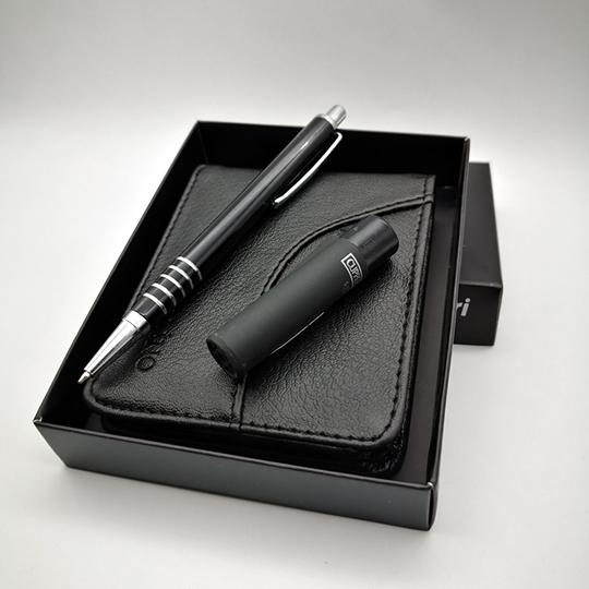isme özel cüzdan çakmak kalem set