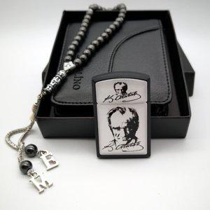 Atatürk Portresi Çakmak Cüzdan