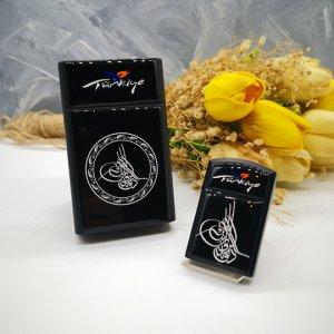 Sigara Kutusu, Tuğra Logolu Sigara Kutusu, Çakmak