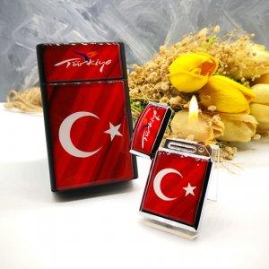Sigara Kutusu, Türk Bayraklı Sigara Kutusu, Çakmak