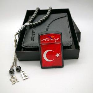 Türk Bayraklı Çakmak Cüzdan